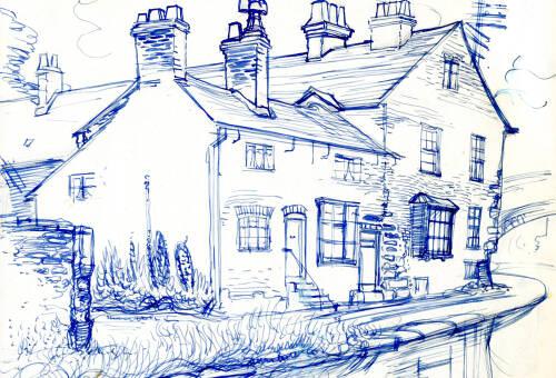 Sketch of Bridge House by Dorothea Rowlinson
