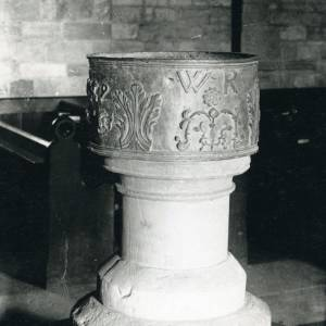 Aston Ingham church, font