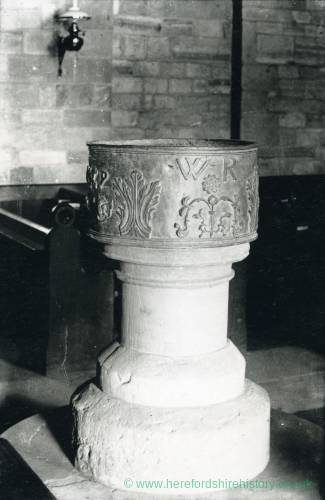 Aston Ingham church, font