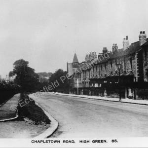 Chapeltown Road now Mortomley Lane, High Green.