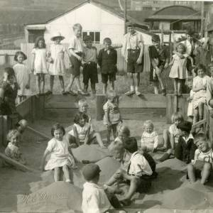 Children playing in sand pit