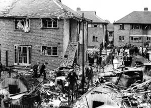 Bomb damage at Runnymede, Colliers Wood