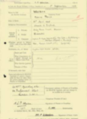 RMC Form 18A Personal Detail Sheets Feb & Sept 1933 Intake - page 306