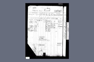 Register of Seamen's Services for Harold Edward Havill