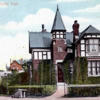 The Lodge, Derby Park, Bootle, 1908 (vintage postcard)