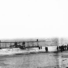 World War 1 Seaplane coming ashore