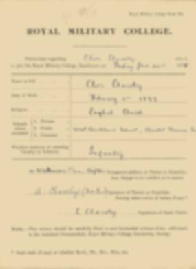 RMC Form 18A Personal Detail Sheets Jan 1915 Intake - page 72