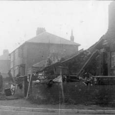 Erskine Road and Nelson Ave, bomb damage