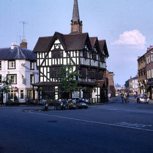 Black and White house, High Town, Hereford, 1971