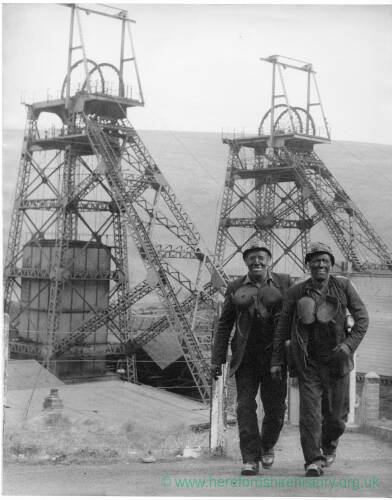 255 - Two coal miners at pit head