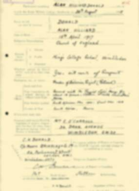 RMC Form 18A Personal Detail Sheets Aug 1935 Intake - page 62