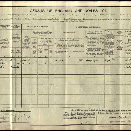 1911 Census - Elm Gardens, London Road, Mitcham