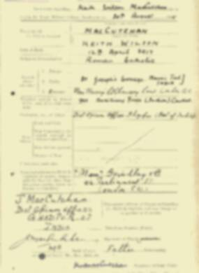 RMC Form 18A Personal Detail Sheets Aug 1935 Intake - page 134