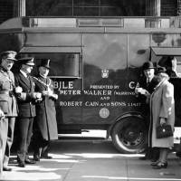 Bootle, presentation of mobile canteen, 1942