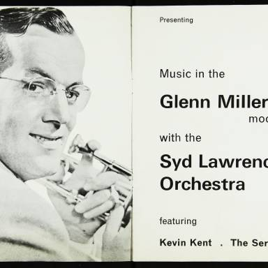 The Syd Lawrence Orchestra, Music in the Glenn Miller Mood, Fairfield Hall, Croydon - 1970 002