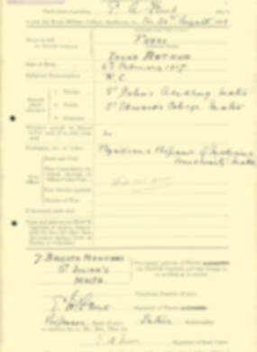 RMC Form 18A Personal Detail Sheets Aug 1935 Intake - page 73