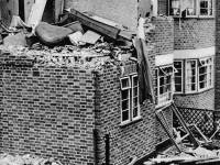 Bomb damaged house in Runnymede,  Mitcham