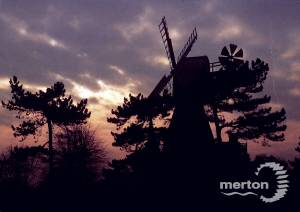 Wimbledon windmill at sunset