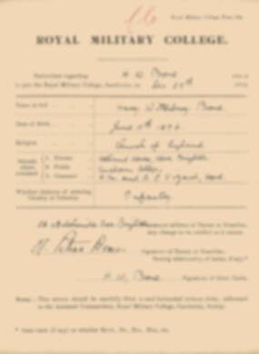 RMC Form 18A Personal Detail Sheets Jan 1915 Intake - page 35