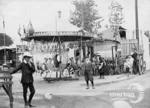 Mitcham Fair. Childrens Roundabout