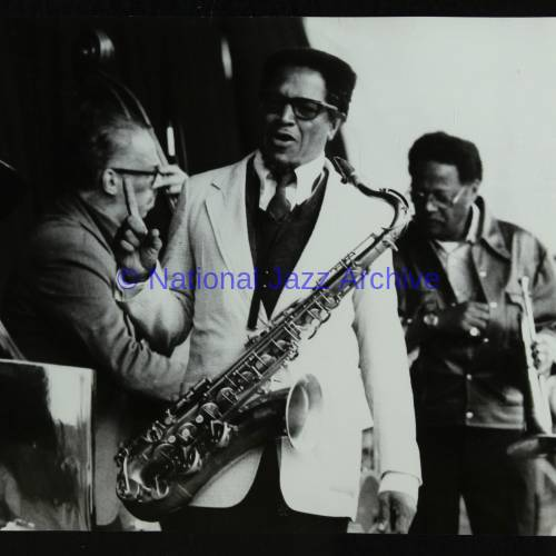 George Duvivier, Illinois Jacquet and Clark Terry (left to right)