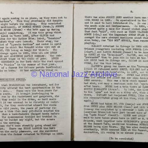 Northern Society For Jazz Study Vol.1 No.7 0005