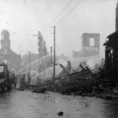 Bomb Damage in King Street and  Market Place.