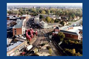 London Road, Morden: Aerial View Morden Centre