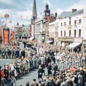 Royal visit procession