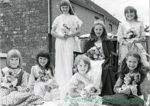 Whitchurch Carnival Queen (Tasmin Gray) and her court, Whitchurch Fete and Carnival, 18th September 1980