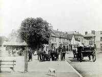 Fair Green, Mitcham: village pump and Collbran's Corner