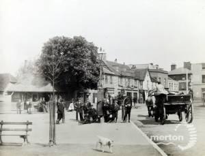 Fair Green, Mitcham: village pump and Collbran's Corner