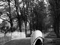 Morden Hall Park:  View of iron bridge looking east