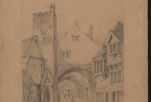 South Gate, c1850, Exeter