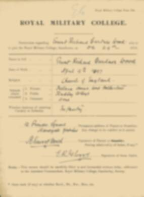 RMC Form 18A Personal Detail Sheets Jan 1915 Intake - page 381