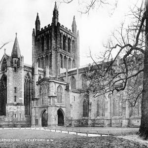 Cathedral, Hereford NW - from 'Photographic Views of Hereford'