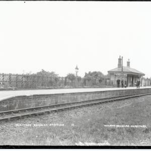 Whitney-on-Wye railway station, c.1890