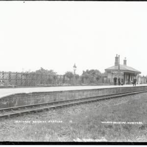 Whitney-on-Wye railway station, c.1890
