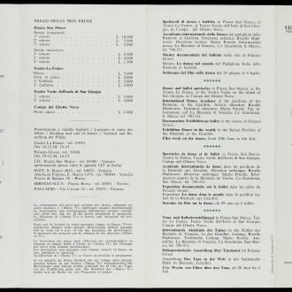 Danza 75 Festival, Venice, Italy, June 1975
