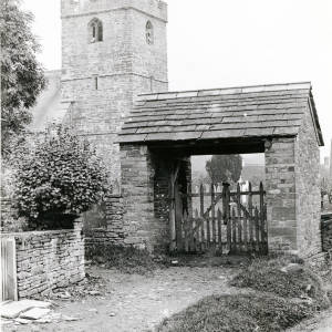 Clodoch Church, Herefordshire, lychgate