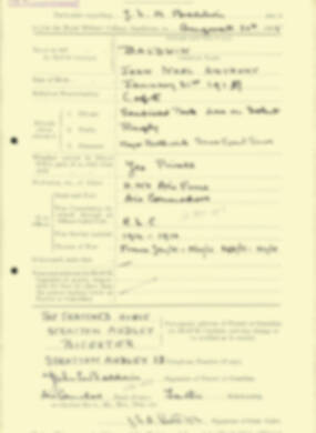 RMC Form 18A Personal Detail Sheets Aug 1935 Intake - page 18
