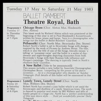 Theatre Royal, Bath, May 1983