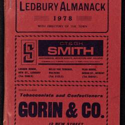 Tilley's Ledbury Almanack 1978