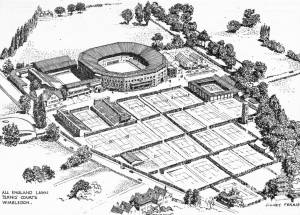 The All England Lawn Tennis Courts, Wimbledon