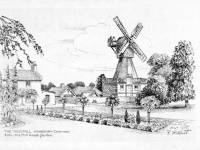 The windmill and the mill house garden