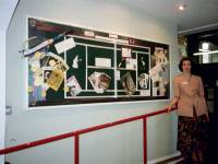 Display about the Wimbledon Tennis championships produced by Heather Constance, Wimbledon Library. This was the year of the 100th Ladies championship.