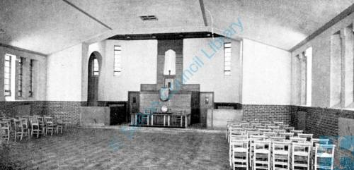 Wilson's Lane Methodist Church interior, Litherland, 1937