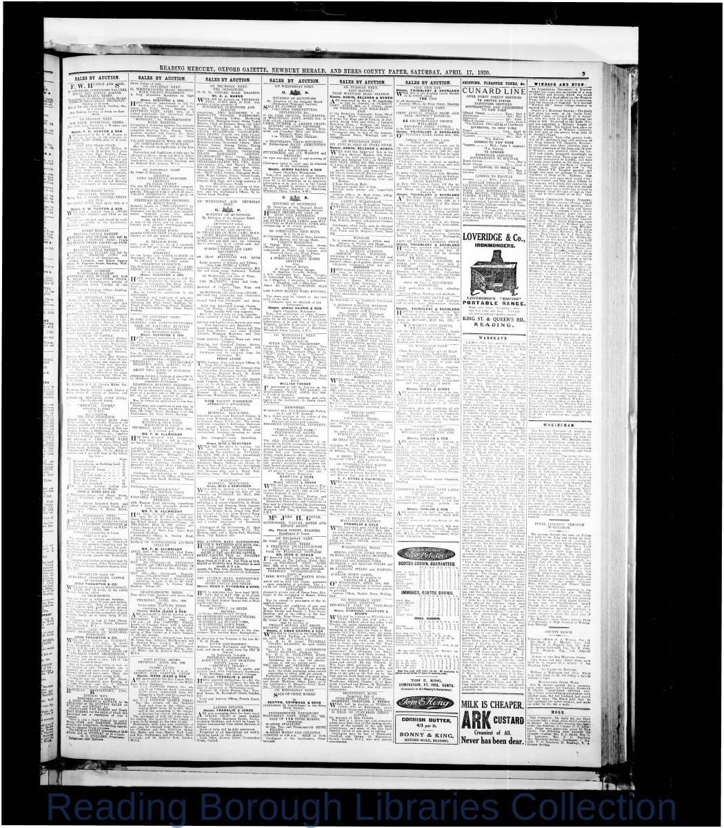 Reading Mercury Oxford Gazette  Saturday, April 17, 1920. Pg 9