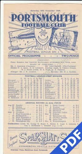 19491210 Arsenal Home