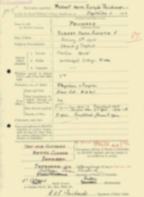 RMC Form 18A Personal Detail Sheets Feb & Sept 1933 Intake - page 265